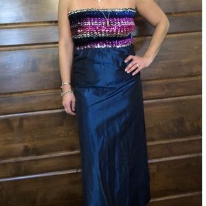 Vintage Empire Dress with a Sequin Strapless Top